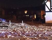PATLAMA ANI - İngiltere'de korkutan patlama
