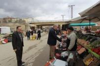 HALK PAZARI - Başkan Memiş Pazar Esnafını Ziyaret Etti Ve Müjdeyi Verdi