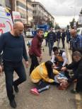 HALK OTOBÜSÜ - Halk Otobüsünün Çarptığı Vatandaş Ağır Yaralandı