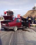 Kula'da Trafik Kazası Açıklaması 2 Yaralı
