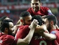 AHMET ÇALıK - Millilerden 3 gollü galibiyet