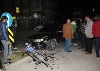 SARıLAR - Antalya'da Motosiklet Kazası Açıklaması 2 Yaralı