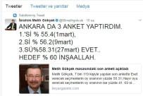 Başkan Gökçek, Son Anketini Açıkladı Açıklaması 'Ankara'da 'Evet' Yüzde 58.31'E Ulaştı'