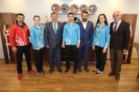 ALTIN MADALYA - Başkan Karabacak, Balkan Şampiyonlarını Ağırladı