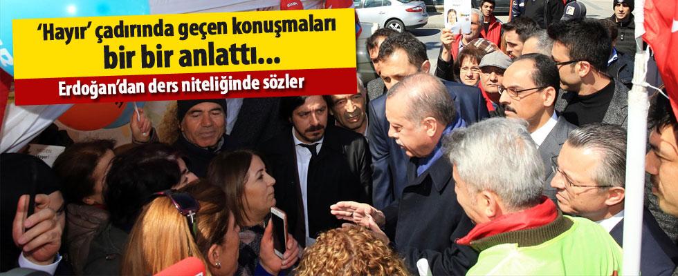 Cumhurbaşkanı Erdoğan hayır standına yaptığı ziyareti anlattı