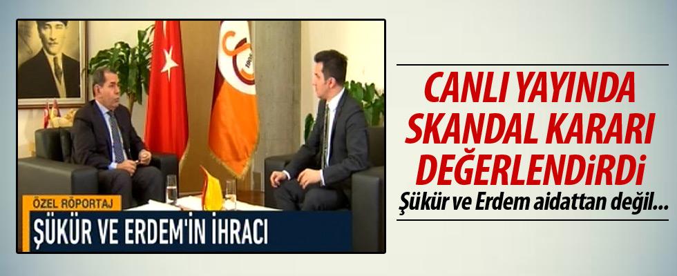 Dursun Özbek'ten Şükür ve Erdem açıklaması