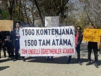 ENGELLİLER KONFEDERASYONU - Engelli Öğretmenler Atama İstedi
