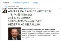 Gökçek Açıkladı Açıklaması Ankara'da Evet Oyları...