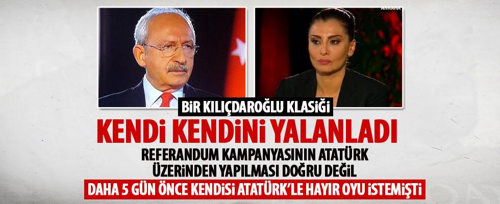 Kılıçdaroğlu kendi kendi inkar etti