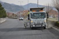SEYRANI - Asfaltlanan Yollarda Çizgi Çalışması