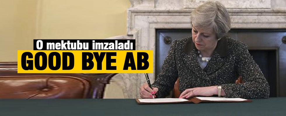 İngiltere Başbakanı Theresa May Brexit mektubunu imzaladı
