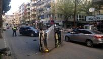 SAĞLIK EKİPLERİ - Önce Otomobile, Sonra Ağaca Çarptı