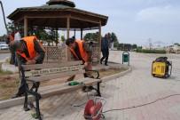 ONARIM ÇALIŞMASI - Şanlıurfa Büyükşehir Harran'da Şehit İbrahim Taş Parkını Bahara Hazırladı