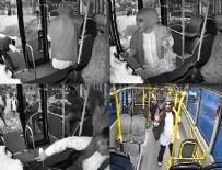 HALK OTOBÜSÜ - Halk otobüsünde dehşet anları...