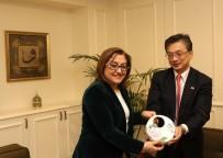 ATEŞ ÇEMBERİ - Japon Büyükelç'den Başkan Şahin'e Ziyaret