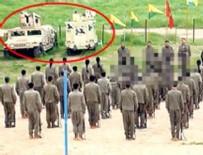 ZIRHLI ARAÇLAR - Terör örgütünün gösterisinde dikkat çeken detay