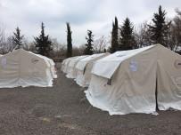 HASAR TESPİT - Deprem Sonrası Barınma Merkezi Kuruldu