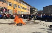 YANGIN TATBİKATI - Simav İtfaiyesinden Okullarda Yangın Tatbikatı