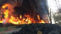 KARAKÖY - Lastik Deposu Yangını Kontrol Altına Alındı
