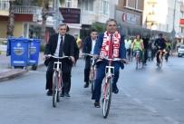BELEDİYE ÇALIŞANI - Atatürk'ün Antalya'ya Gelişi Anısına Muratpaşa Bisiklete Bindi