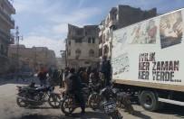 YARDIM KONVOYU - El Bab'a ilk yardım konvoyu ulaştı