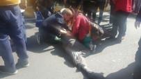 HALK OTOBÜSÜ - Halk Otobüsünün Çarptığı Yaşlı Adam Ağır Yaralandı
