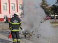 HASANLAR - Hisarcık İtfaiyesinin Okullarda Yangın Tatbikatı