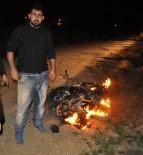 ALANYURT - Borcunu Ödemeyen Arkadaşının Çalıntı Motosikletini Ateşe Verdi