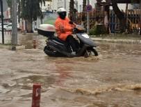 SAĞANAK YAĞMUR - Bodrum'da kuvvetli yağış