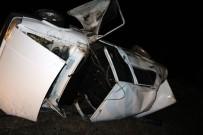 BAŞPıNAR - Otomobil Takla Attı Açıklaması 1 Ölü, 2 Yaralı