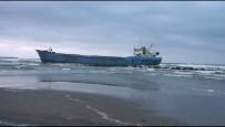 DEMIRLI - Tarama Gemisi Dalgalar Nedeniyle Karaya Oturdu