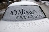 KIŞ MEVSİMİ - Erzurum'da Kar Ve Soğuk Hava Etkili Oluyor