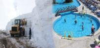 HAVA SICAKLIĞI - Doğu'da kar Ege'de deniz keyfi