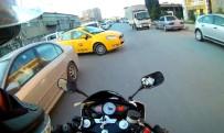 Motosiklet Kazası Kask Kamerasında