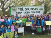 YÜCEL ÇELİKBİLEK - Belediye Başkanı Ve Öğrenciler Sokaktan Çöp Topladı