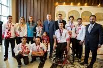 MİLLİ SPORCULAR - Cumhurbaşkanı Erdoğan Haliliyeli Sporcularla Buluştu