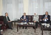 ATATÜRK ÜNIVERSITESI - Maliye Bakanı Ağbal, Rektör Çomaklı'yı Ziyaret Etti