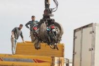 KAPKAÇ - Trafikten Men Edilen Motosikletler Geri Dönüşüme Gönderildi