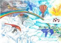 RESİM YARIŞMASI - 'FAI Genç Ressamlar Resim Yarışması'Nda Dünya Üçüncülüğü Türkiye'nin