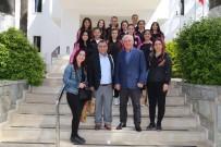 İSMAIL ALTıNDAĞ - Kıbrıs Kız Hentbol Takımı Bodrum Belediyesi'ni Ziyaret Etti