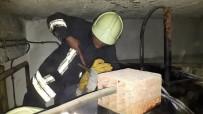 PAMUKKALE - Denizli'de Akaryakıt Tankına Sıkışan Kediyi İtfaiye Ekipleri Kurtardı