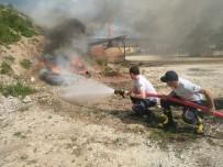 YANGIN TATBİKATI - Hisarcık İtfaiye Personeline Yangın Eğitimi