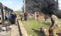 BOMBALI SALDIRI - Tahliye konvoyuna bombalı saldırı