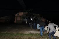 KAYACıK - Diyarbakır'da Oy Torbaları Helikopterle Taşındı
