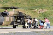 Oy Torbaları Helikopterle Taşındı