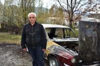 SULUCA - Tosya'da Köy İmamı İçeride Oy Kullandı Otomobili Dışarıda Cayır Cayır Yandı