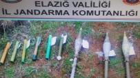 Elazığ'da Terör Örgütüne Ait Roketatar Mühimmatları Ele Geçirildi