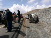 ŞİDDETLİ YAĞIŞ - İşçileri Taşıyan Minibüs Devrildi Açıklaması 13 Yaralı