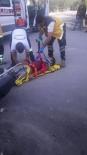 MOTOSİKLET SÜRÜCÜSÜ - Mersin'de Trafik Kazası Açıklaması 1 Yaralı