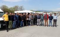 YUSUF ZIYA YıLMAZ - Servisçilerden 'Korsan' Eylemi